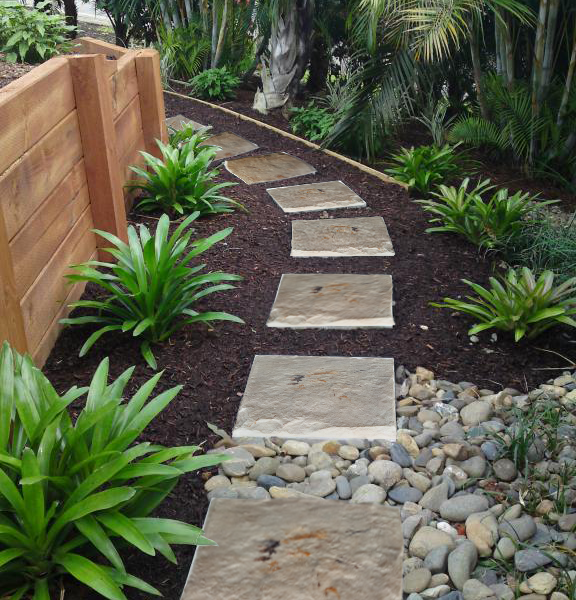 Large Portable Stepping Stones For Garden 6 Pack Strong And High Quality Plastic Resin Stones